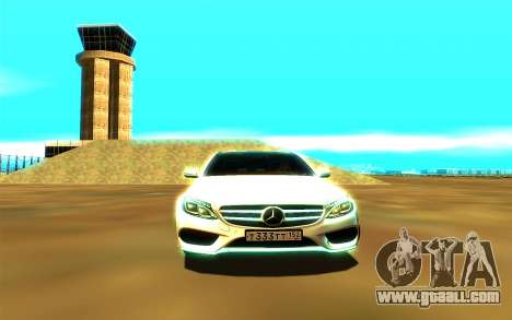 Mercedes-Benz C250 for GTA San Andreas back view