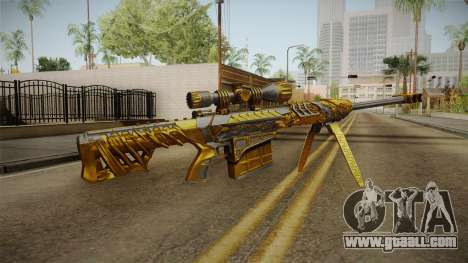 Cross Fire - M82A1 Born Beast Noble Gold for GTA San Andreas second screenshot