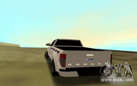 Ford Ranger 2017 for GTA San Andreas back left view