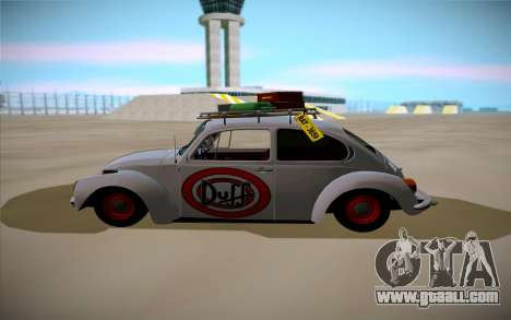 Volkswagen Beetle for GTA San Andreas left view