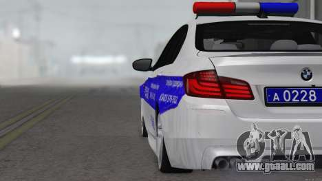 BMW M5 F10 Police for GTA San Andreas right view