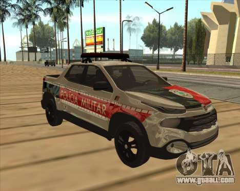 Fiat Toro Police Military for GTA San Andreas side view