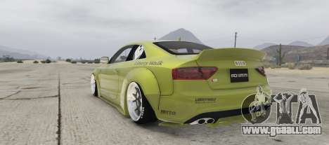 GTA 5 Audi S5 Liberty Walk left side view
