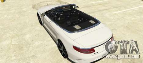 GTA 5 Mercedes-Benz S63 AMG Cabriolet left side view