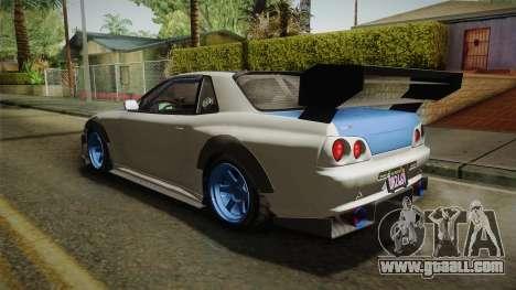 GTA 5 Annis Elegy Retro Custom v2 for GTA San Andreas back left view