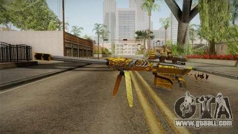 Cross Fire - M82A1 Born Beast Noble Gold for GTA San Andreas