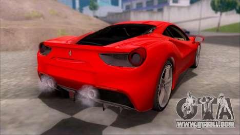 Ferrari 488 for GTA San Andreas left view
