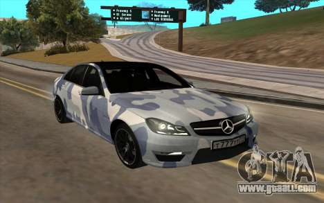 Mersedes-Benz C63 AMG for GTA San Andreas