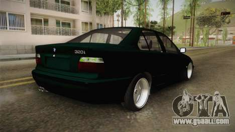 BMW 320i E36 BORBET for GTA San Andreas back left view