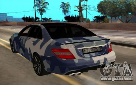 Mersedes-Benz C63 AMG for GTA San Andreas back left view