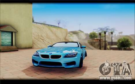 BMW M6 Stance for GTA San Andreas back view