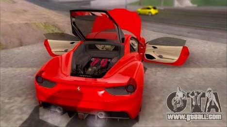 Ferrari 488 for GTA San Andreas right view