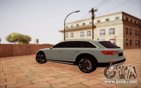 Audi A4 Allroad 2017 for GTA San Andreas back left view