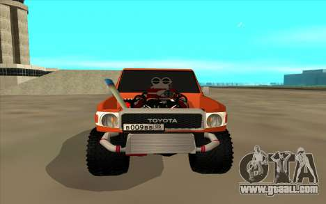 Toyota Land Cruiser for GTA San Andreas back left view