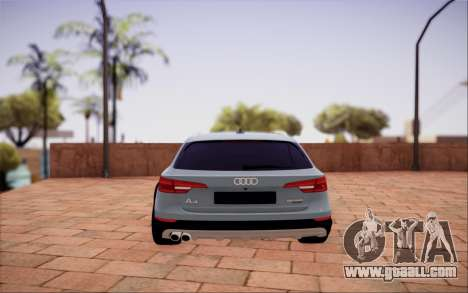 Audi A4 Allroad 2017 for GTA San Andreas back view