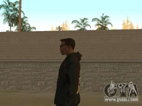 System of a Down Black Hoody v1 for GTA San Andreas forth screenshot