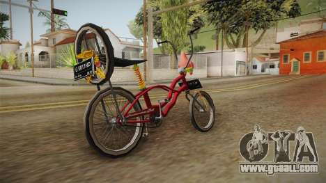 Bike Lowrider Thailook for GTA San Andreas back left view