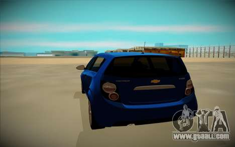 Chevrolet Aveo for GTA San Andreas back view