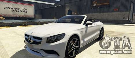 Mercedes-Benz S63 AMG Cabriolet for GTA 5