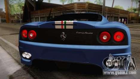 Ferrari 360 Challenge Stradale v3.2 for GTA San Andreas right view