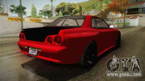 GTA 5 Annis Elegy Retro Custom v2 IVF for GTA San Andreas back left view