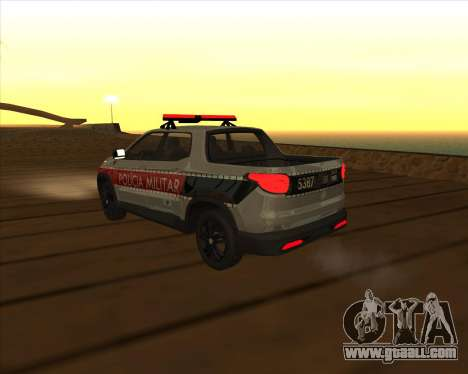 Fiat Toro Police Military for GTA San Andreas upper view