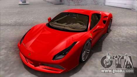 Ferrari 488 for GTA San Andreas back left view