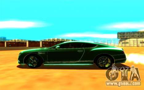 Bentley Continental GT for GTA San Andreas back left view