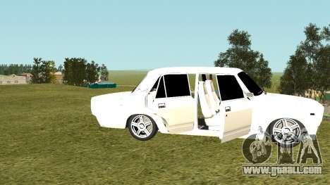 VAZ 2105 for GTA San Andreas inner view