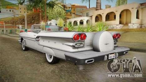 Pontiac Bonneville Hardtop 1958 HQLM for GTA San Andreas left view