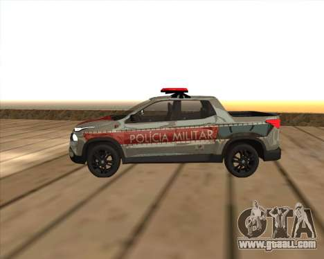 Fiat Toro Police Military for GTA San Andreas left view
