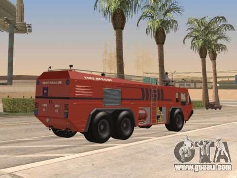 E-One Titan Force 6x6 for GTA San Andreas back left view