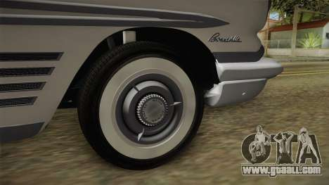 Pontiac Bonneville Hardtop 1958 HQLM for GTA San Andreas back view