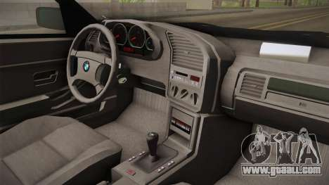 BMW 320i E36 BORBET for GTA San Andreas inner view