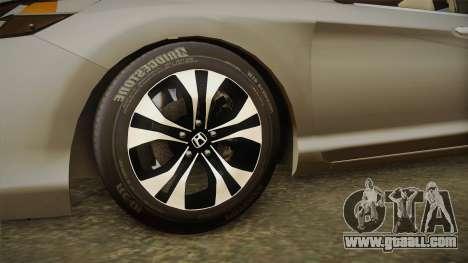 Honda Accord 2015 Sport for GTA San Andreas back view
