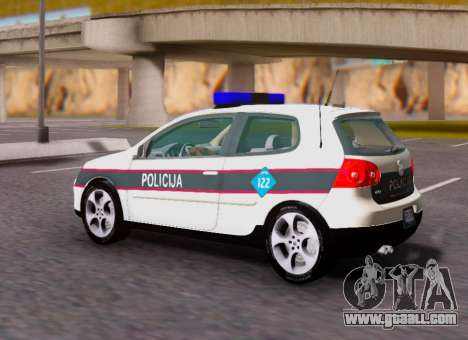 Volkswagen Golf V BIH Police Car for GTA San Andreas left view
