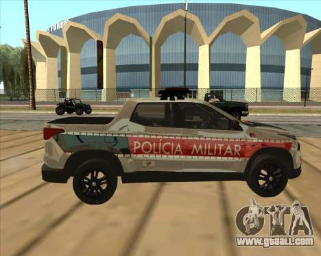 Fiat Toro Police Military for GTA San Andreas back view