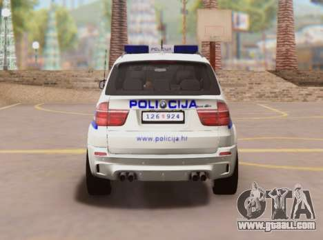 BMW X5 Croatian Police Car for GTA San Andreas right view