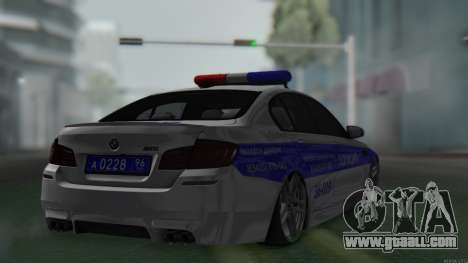 BMW M5 F10 Police for GTA San Andreas left view