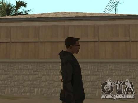 System of a Down Black Hoody v1 for GTA San Andreas third screenshot