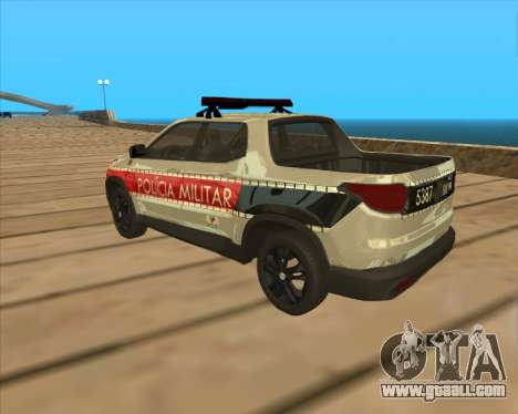 Fiat Toro Police Military for GTA San Andreas right view