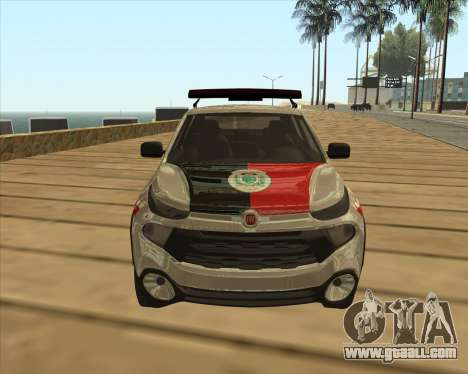 Fiat Toro Police Military for GTA San Andreas inner view