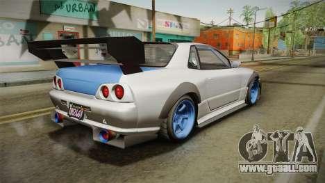 GTA 5 Annis Elegy Retro Custom v2 for GTA San Andreas left view
