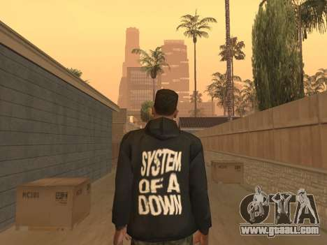 System of a Down Black Hoody v1 for GTA San Andreas