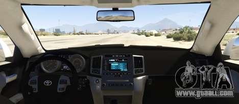 GTA 5 Toyota Land Cruiser 200 Zeus rear left side view