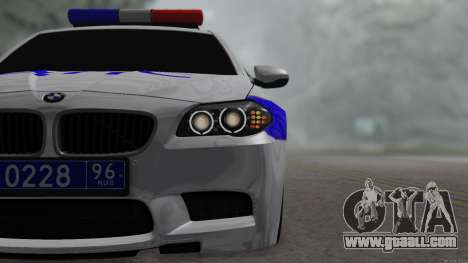 BMW M5 F10 Police for GTA San Andreas back left view