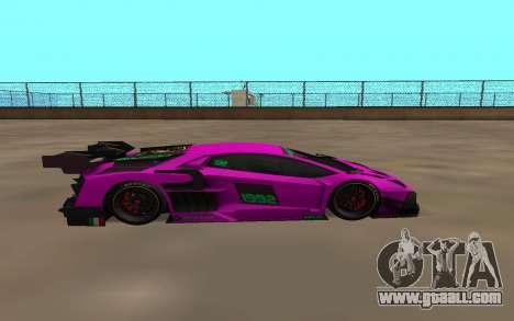 Lamborghini Aventador for GTA San Andreas left view