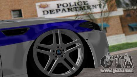 BMW M5 F10 Police for GTA San Andreas back view