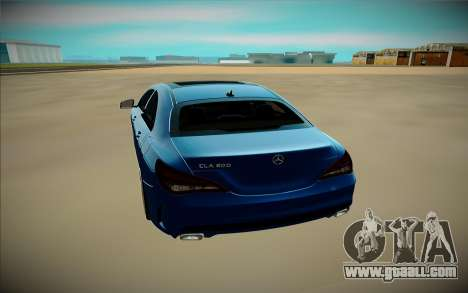 Mercedes-Benz CLA 200 for GTA San Andreas back view