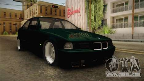 BMW 320i E36 BORBET for GTA San Andreas right view